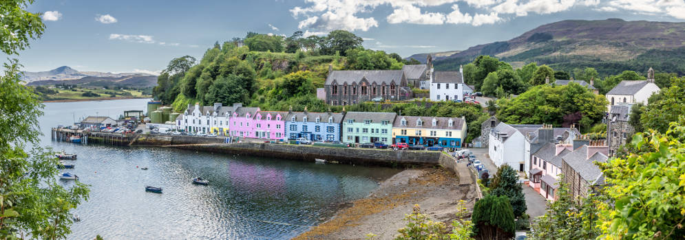 Rondreis langs Portree in Schotland